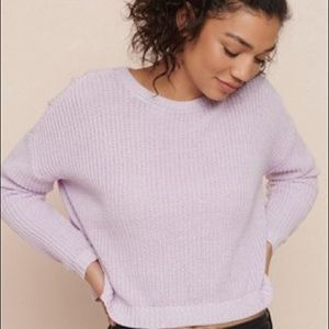 3/$20 Garage oversized purple sweater